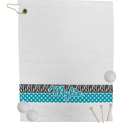 Dots & Zebra Golf Towel (Personalized)