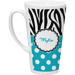 Dots & Zebra Latte Mug (Personalized)