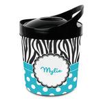 Dots & Zebra Plastic Ice Bucket (Personalized)