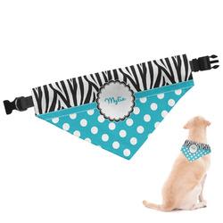 Dots & Zebra Dog Bandana (Personalized)