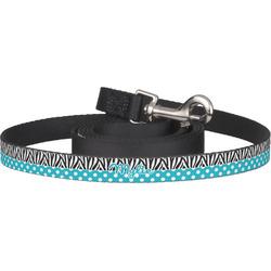 Dots & Zebra Dog Leash (Personalized)