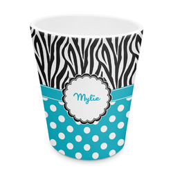 Dots & Zebra Plastic Tumbler 6oz (Personalized)