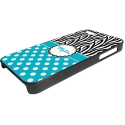 Dots & Zebra Plastic iPhone 5/5S Phone Case (Personalized)
