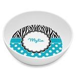 Dots & Zebra Melamine Bowl 8oz (Personalized)