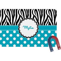 Dots & Zebra Rectangular Fridge Magnet (Personalized)