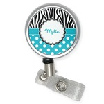 Dots & Zebra Retractable Badge Reel (Personalized)