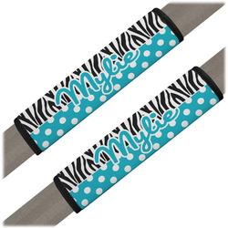 Dots & Zebra Seat Belt Covers (Set of 2) (Personalized)