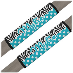 Dots & Zebra Seat Belt Covers (Set of 2) (Personalized)