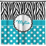 Dots & Zebra Shower Curtain (Personalized)