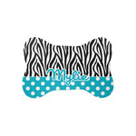 Dots & Zebra Bone Shaped Dog Food Mat (Personalized)