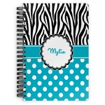 Dots & Zebra Spiral Bound Notebook (Personalized)
