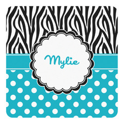 Dots & Zebra Square Decal - Medium (Personalized)