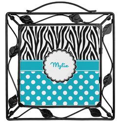 Dots & Zebra Trivet (Personalized)