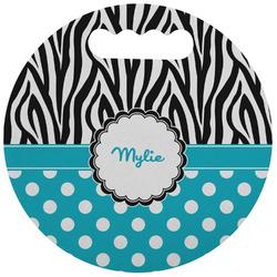Dots & Zebra Stadium Cushion (Round) (Personalized)