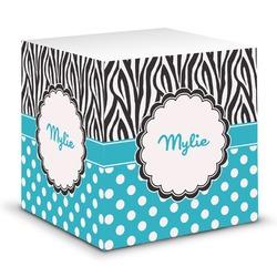 Dots & Zebra Sticky Note Cube (Personalized)