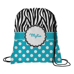 Dots & Zebra Drawstring Backpack (Personalized)