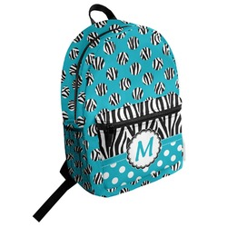 Dots & Zebra Student Backpack (Personalized)