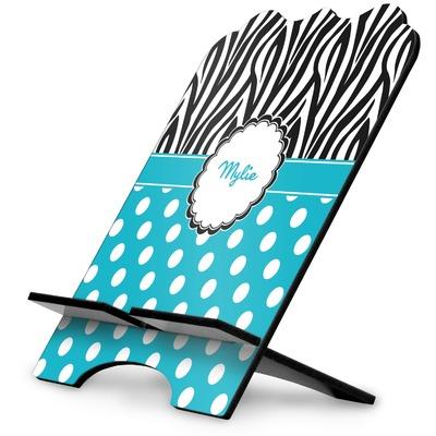 Dots & Zebra Stylized Tablet Stand (Personalized)
