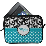 Dots & Zebra Tablet Case / Sleeve (Personalized)