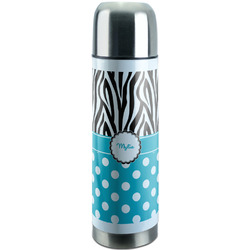 Dots & Zebra Stainless Steel Thermos (Personalized)