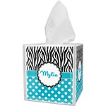 Dots & Zebra Tissue Box Cover (Personalized)