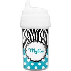 Dots & Zebra Toddler Sippy Cup (Personalized)
