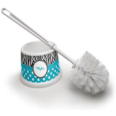 Dots & Zebra Toilet Brush (Personalized)