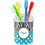 Dots & Zebra Toothbrush Holder (Personalized)