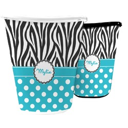 Dots & Zebra Waste Basket (Personalized)