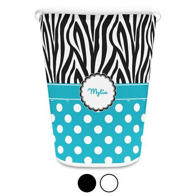 Dots & Zebra Waste Basket (Personalized)