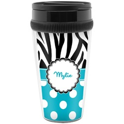 Dots & Zebra Travel Mug (Personalized)