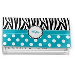 Dots & Zebra Vinyl Checkbook Cover (Personalized)