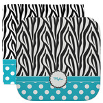 Dots & Zebra Facecloth / Wash Cloth (Personalized)