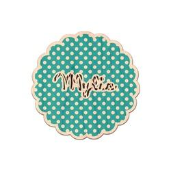 Dots & Zebra Genuine Wood Sticker (Personalized)