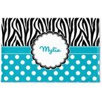 Dots & Zebra Woven Mat (Personalized)
