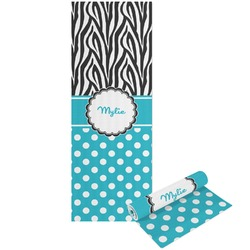 Dots & Zebra Yoga Mat - Printable Front and Back (Personalized)