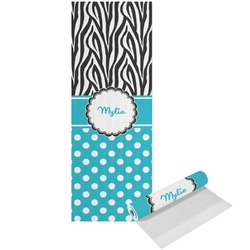 Dots & Zebra Yoga Mat - Printed Front (Personalized)
