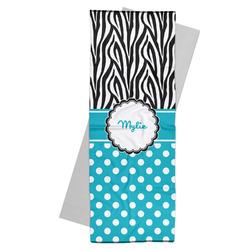 Dots & Zebra Yoga Mat Towel (Personalized)