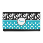 Dots & Zebra Leatherette Ladies Wallet (Personalized)