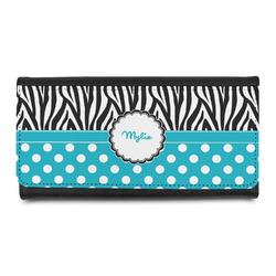 Dots & Zebra Leatherette Ladies Wallet (Personalized)
