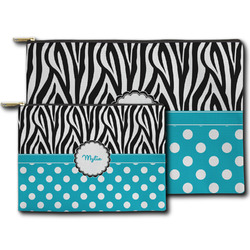 Dots & Zebra Zipper Pouch (Personalized)