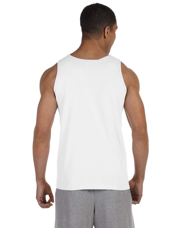 Blank Men's White Tank Top