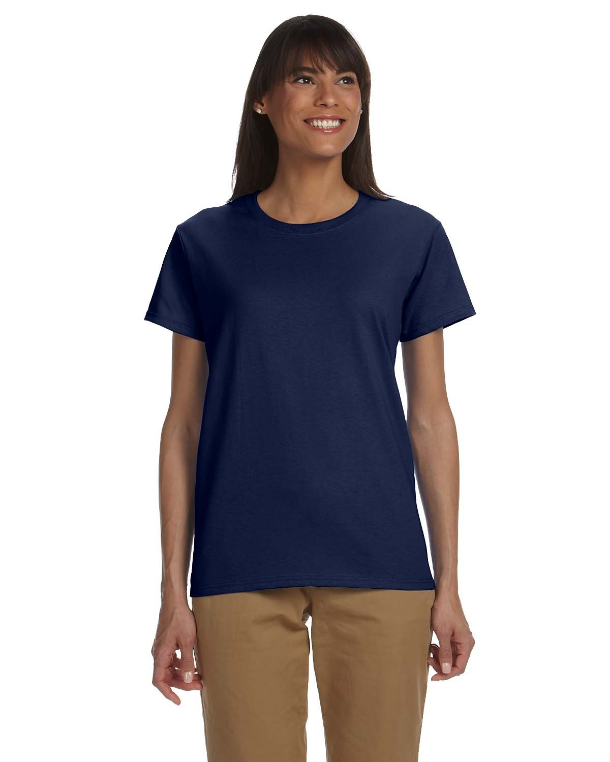 Blank women 39 s navy t shirt you customize it for Womens black tee shirt