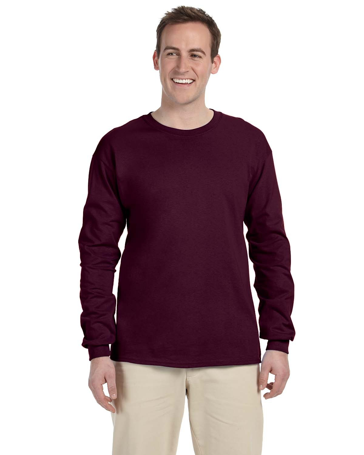 Blank Maroon Long Sleeve Shirt - RNK Shops