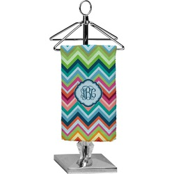 Retro Chevron Monogram Finger Tip Towel - Full Print (Personalized)