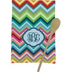 Retro Chevron Monogram Kitchen Towel - Full Print (Personalized)