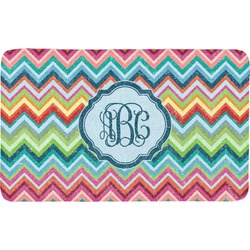 Retro Chevron Monogram Bath Mat (Personalized)