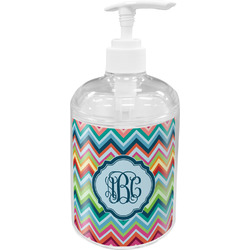 Retro Chevron Monogram Soap / Lotion Dispenser (Personalized)
