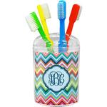 Retro Chevron Monogram Toothbrush Holder (Personalized)