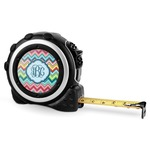 Retro Chevron Monogram Tape Measure - 16 Ft (Personalized)